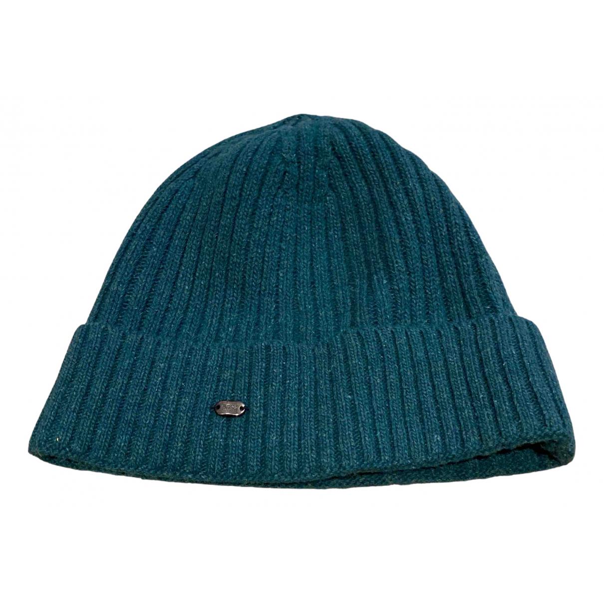 Boss - Chapeau & Bonnets   pour homme en laine - vert