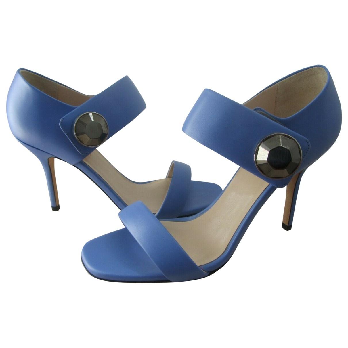 Christopher Kane - Escarpins   pour femme en cuir - bleu