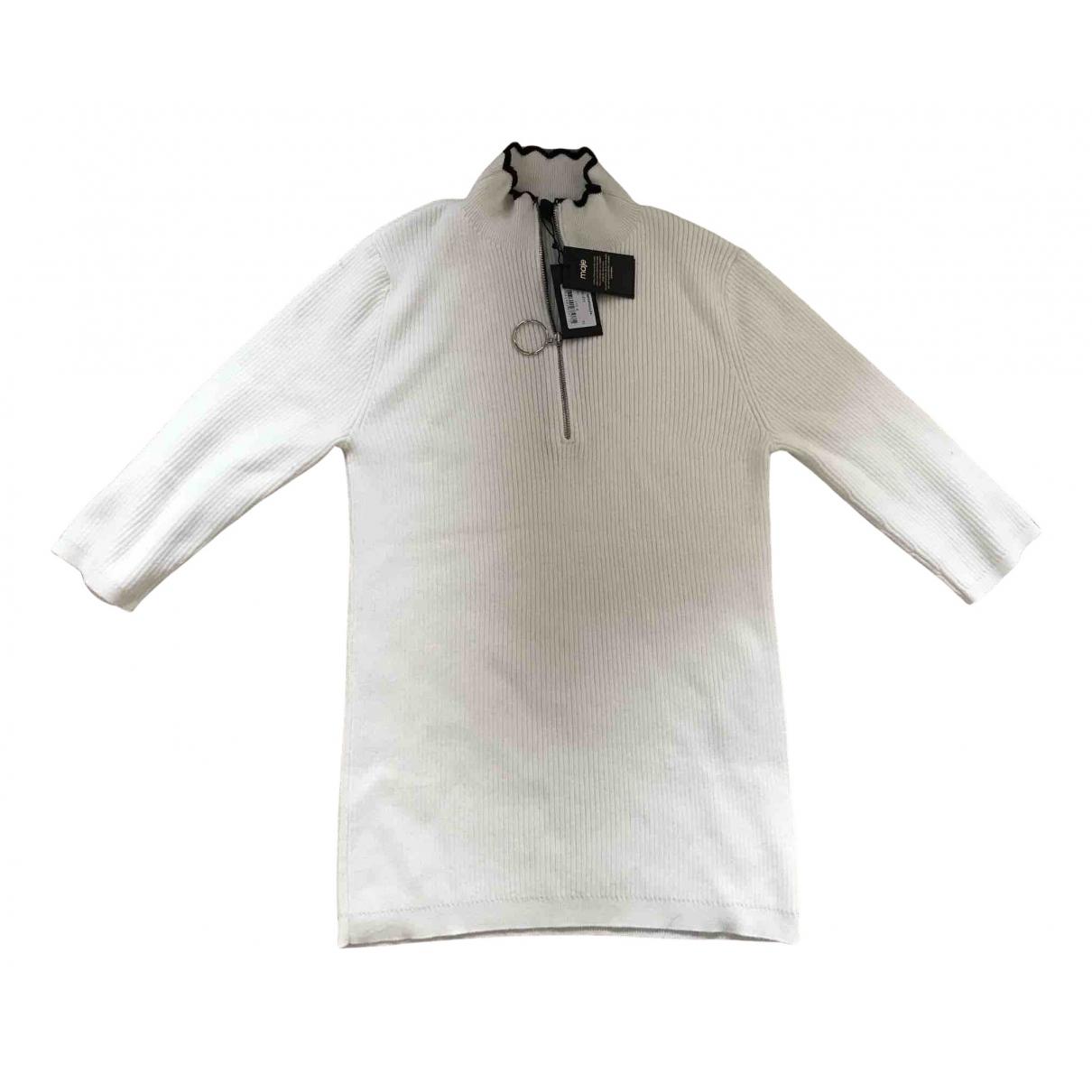 Maje Fall Winter 2019 White Cotton Knitwear for Women 34 FR