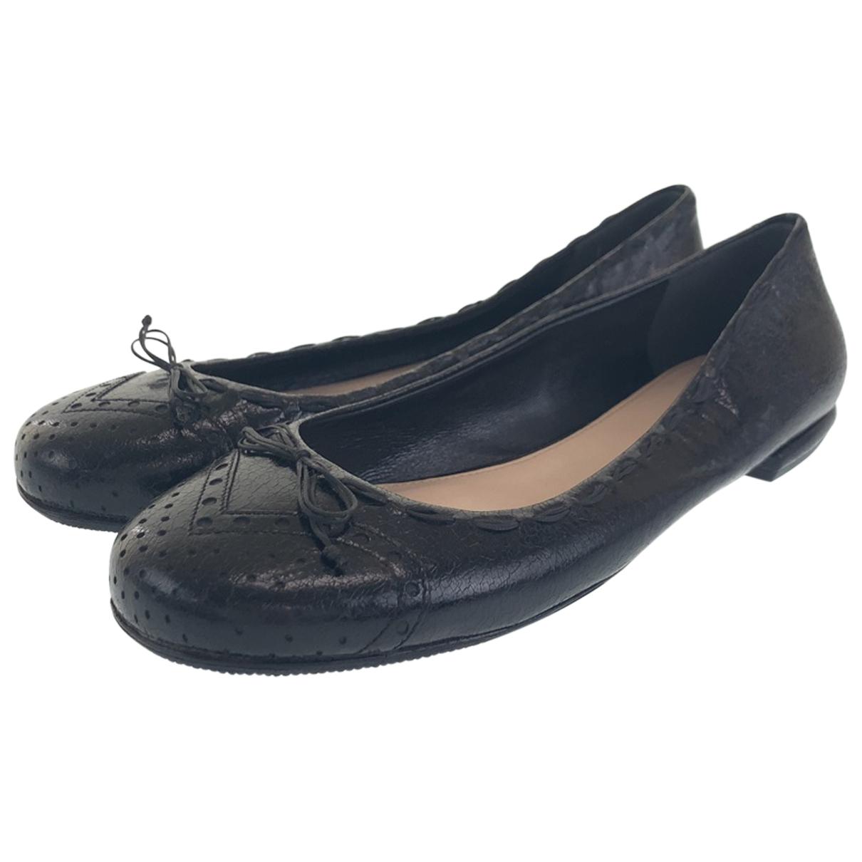 Prada N Leather Heels for Women 9 US