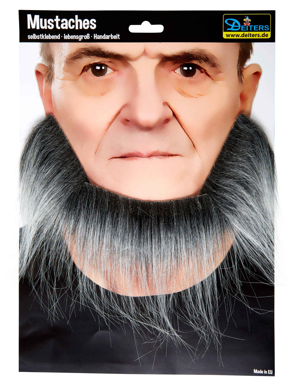 Kostuemzubehor Bart Kobold schwarz/grau