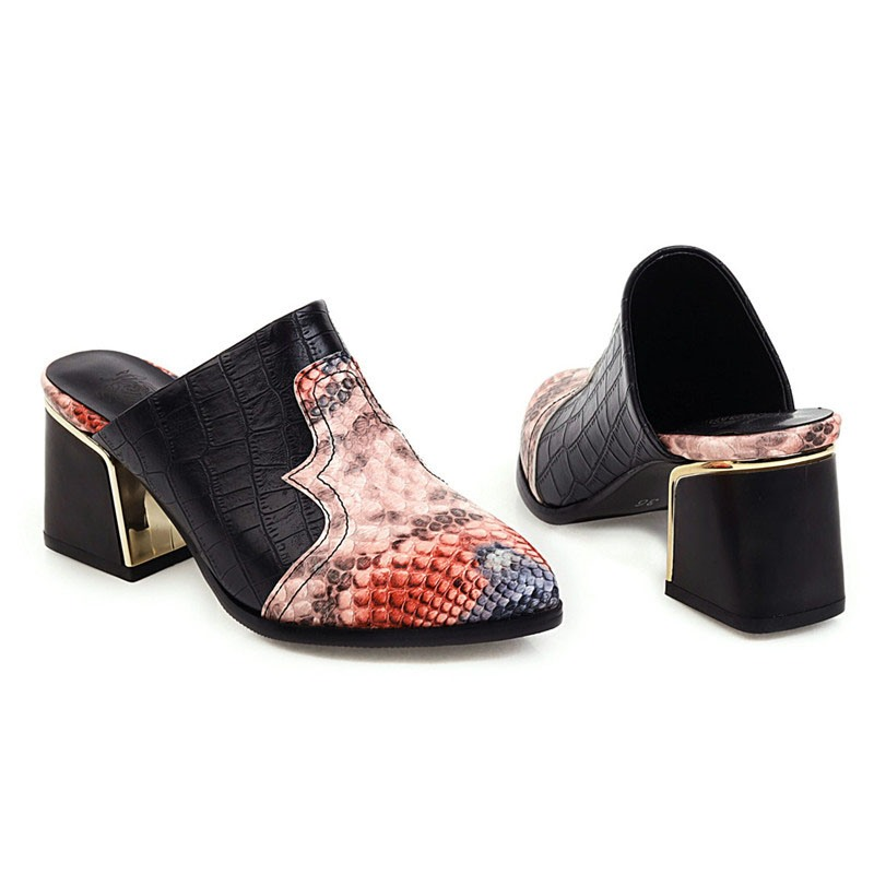 Ericdress Slip-On Alligator Pattern Pointed Toe 6.5cm Thin Shoes