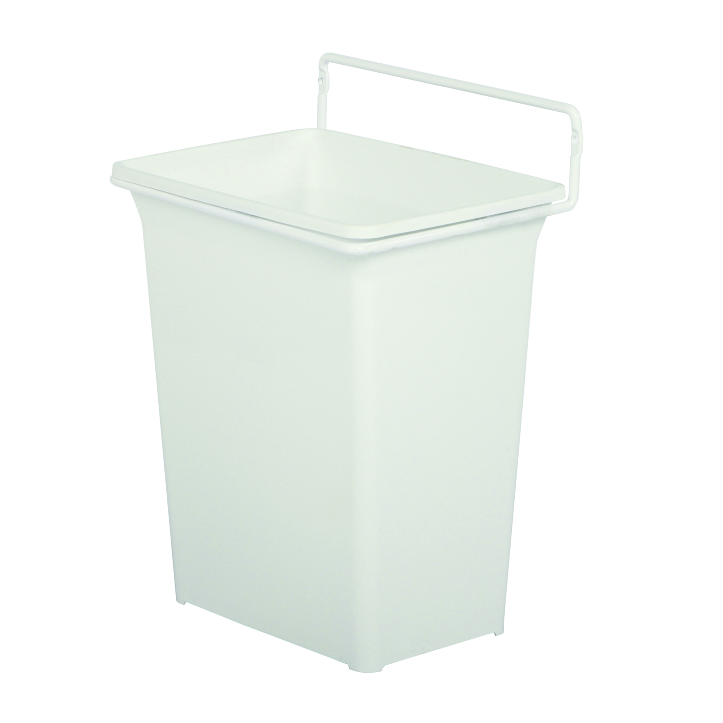 Real Solutions Single 9qt Door-mounted Waste & Recyling Unit, White