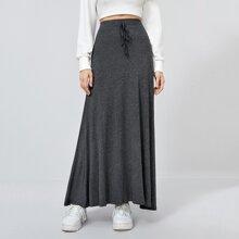 Falda maxi de cintura con cordon