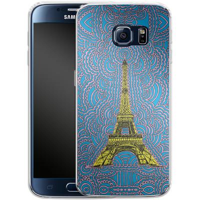 Samsung Galaxy S6 Silikon Handyhuelle - Eiffel Tower von Kaitlyn Parker
