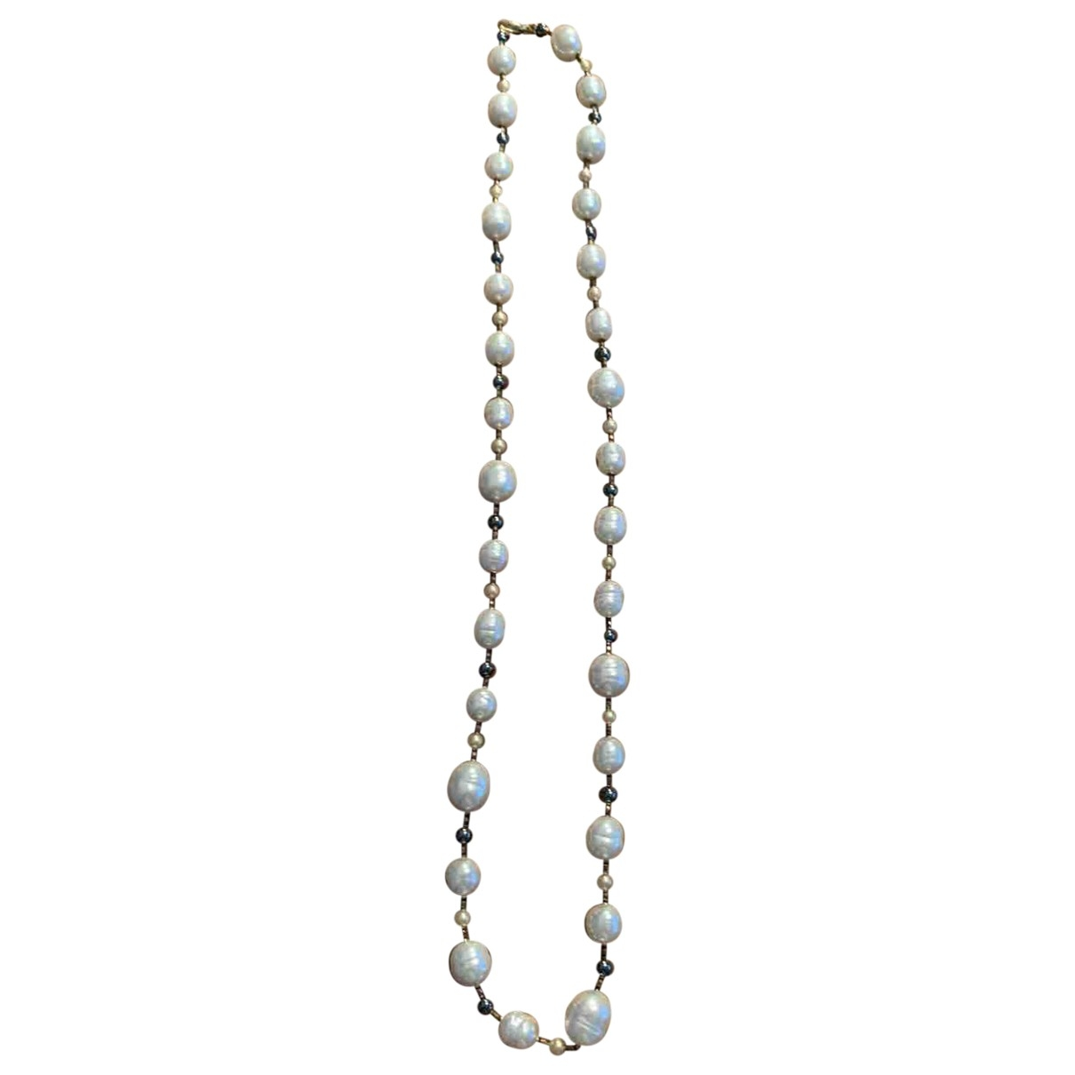 Non Signé / Unsigned Nacre White Pearls Long necklace for Women \N