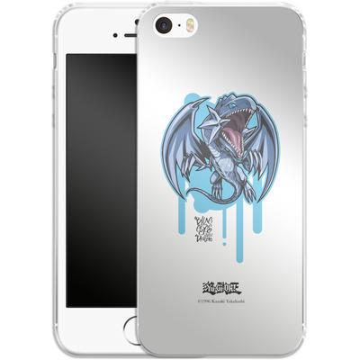 Apple iPhone 5s Silikon Handyhuelle - Blue-Eyes White Dragon SD von Yu-Gi-Oh!