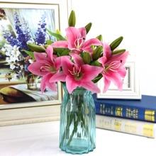 1 Zweig Kuenstliche Lilie
