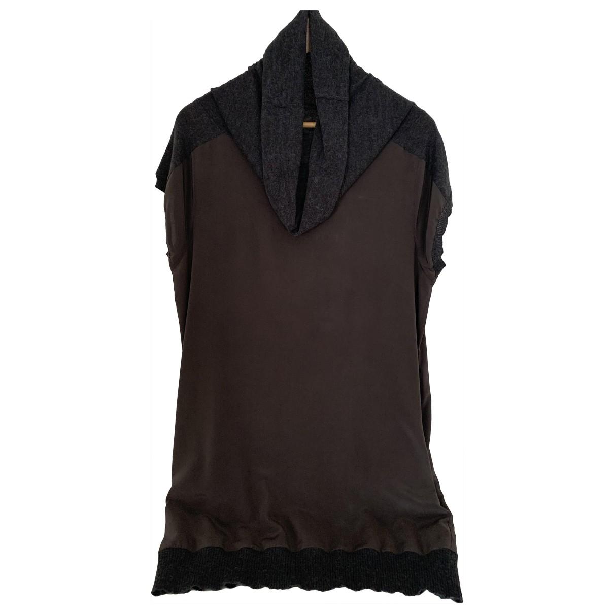 Trussardi Jeans \N Kleid in  Braun Seide