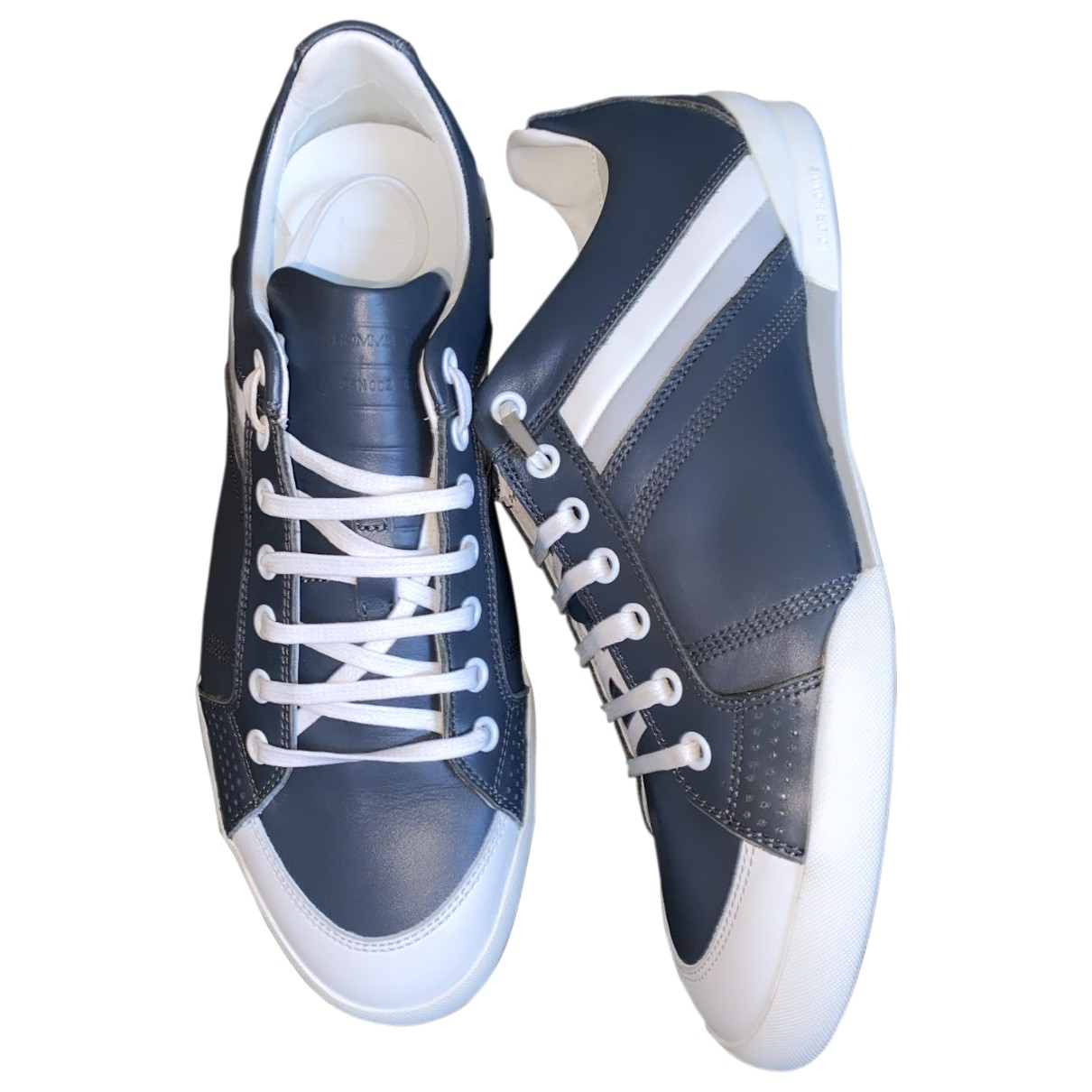 Dior Homme \N Blue Leather Trainers for Men 39.5 EU