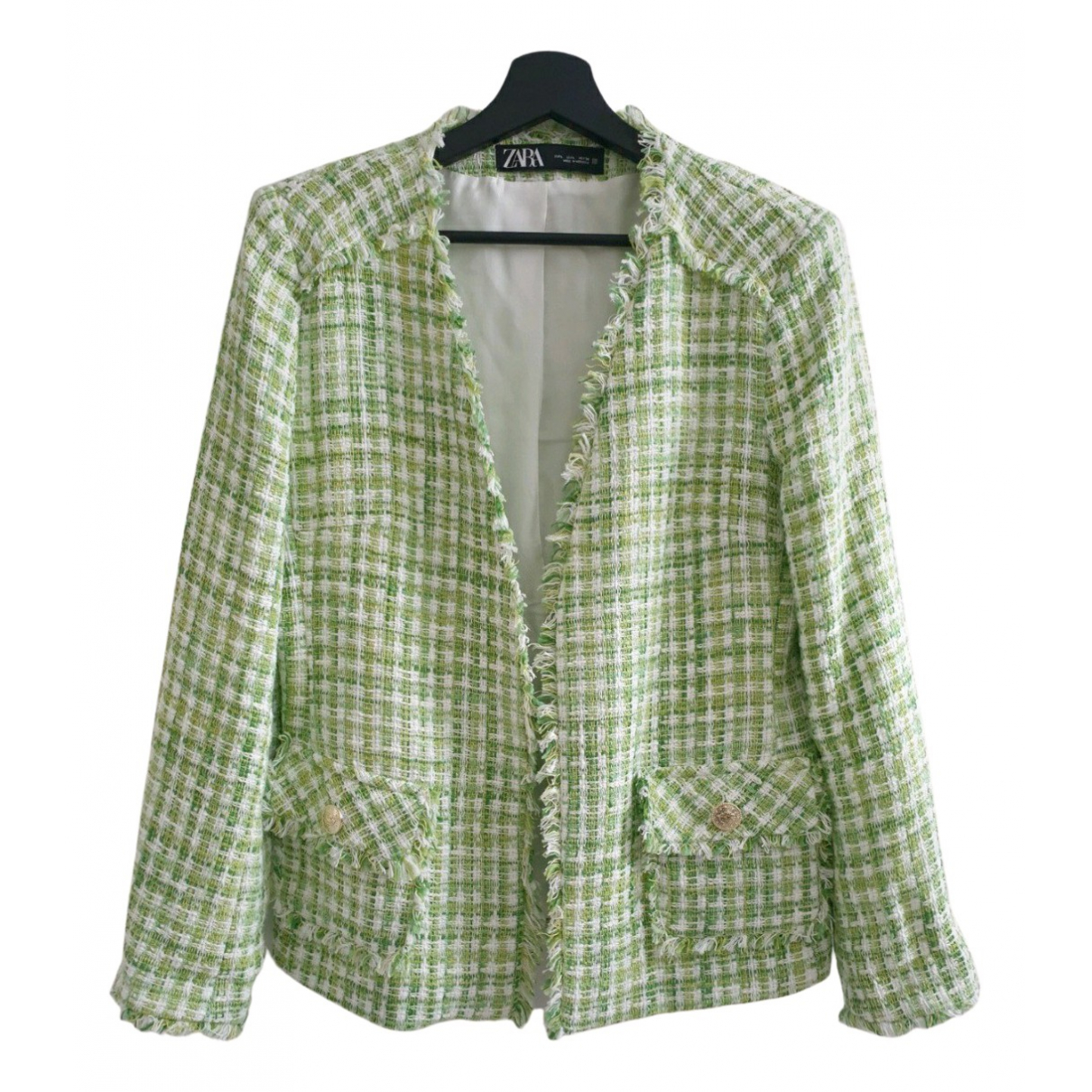 Zara \N Green Cotton jacket for Women 40 FR