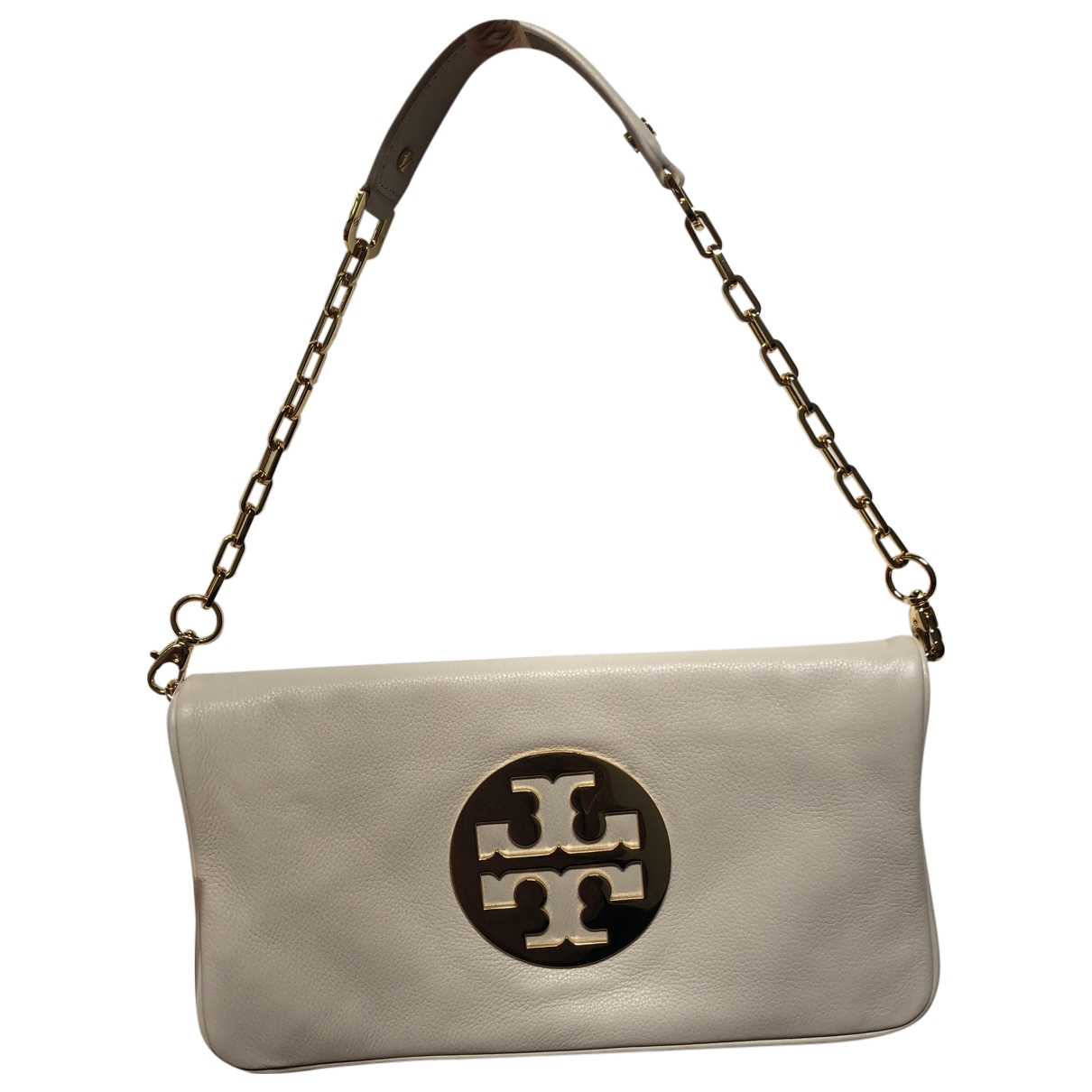 Tory Burch \N Clutch in  Beige Leder