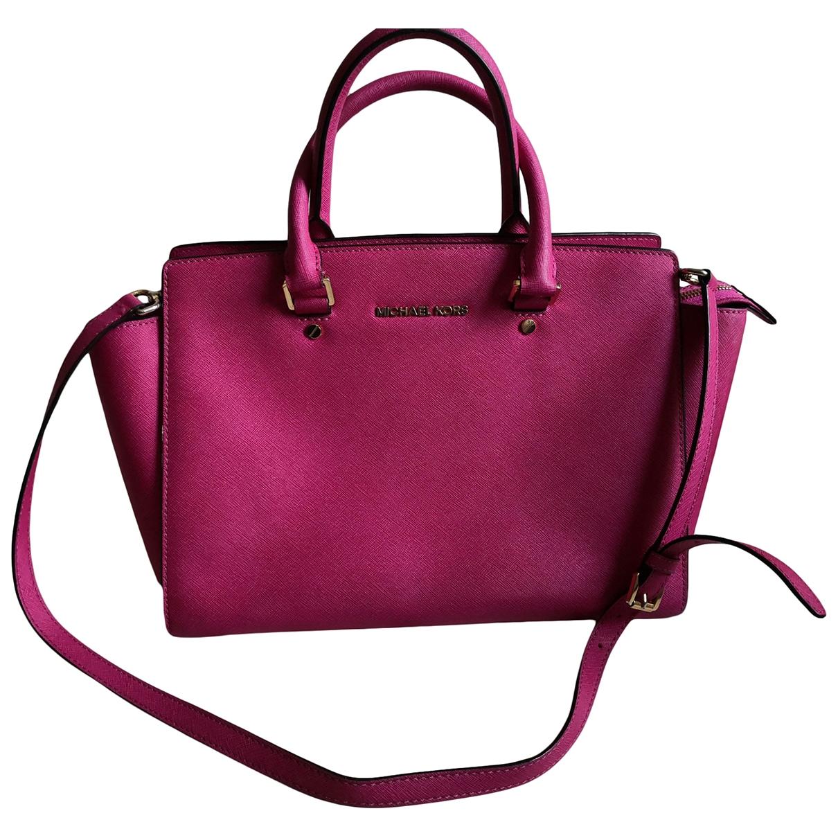 Michael Kors Selma Pink Leather handbag for Women \N