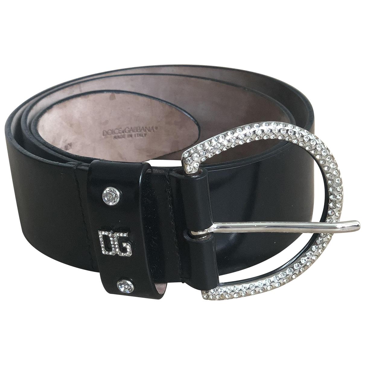 Dolce & Gabbana \N Black Leather belt for Women 85 cm