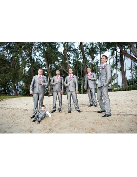 Mens Beach Wedding Attire Suit Menswear Gray 199