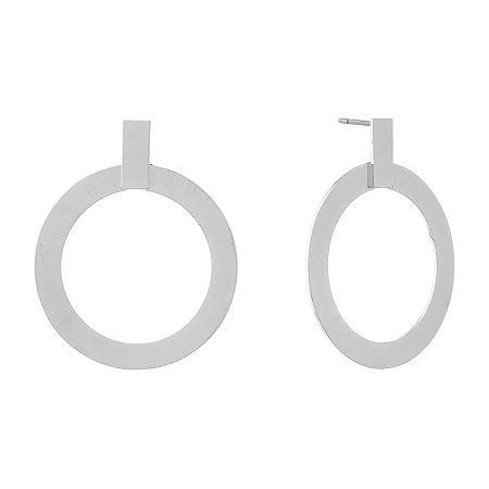 Liz Claiborne 1 Pair Drop Earrings, One Size , Silver