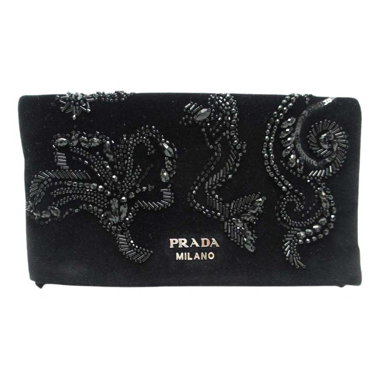 Prada - Portefeuille   pour femme en autre - noir