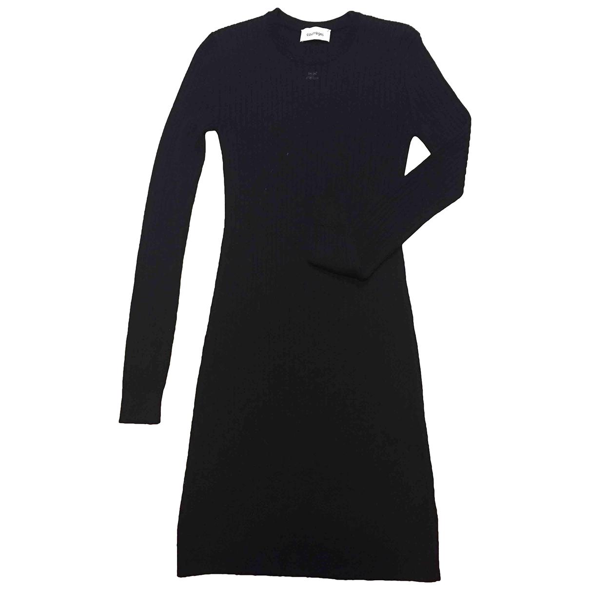 Courreges - Robe   pour femme en laine - noir