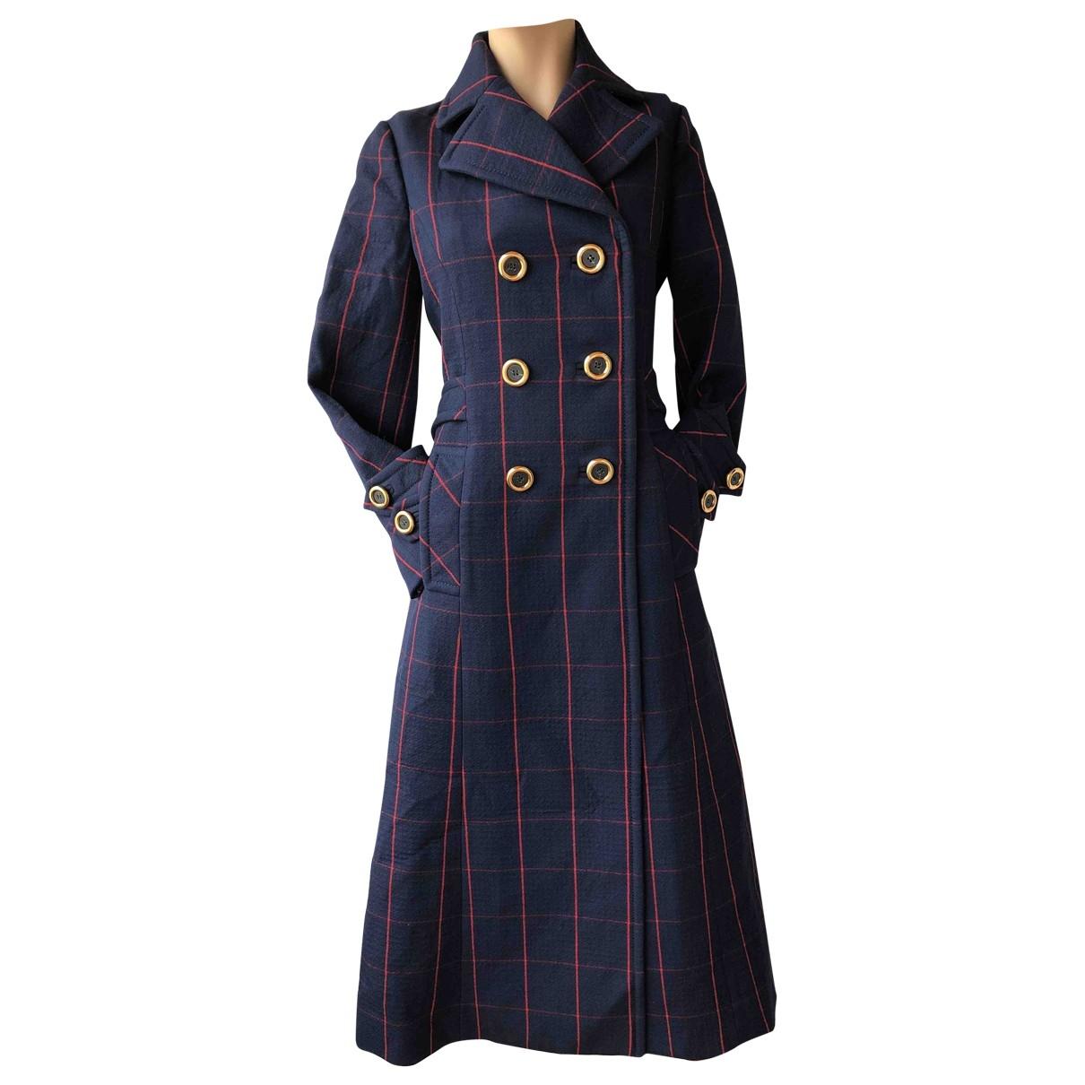 Miu Miu \N Navy Wool coat for Women 38 IT