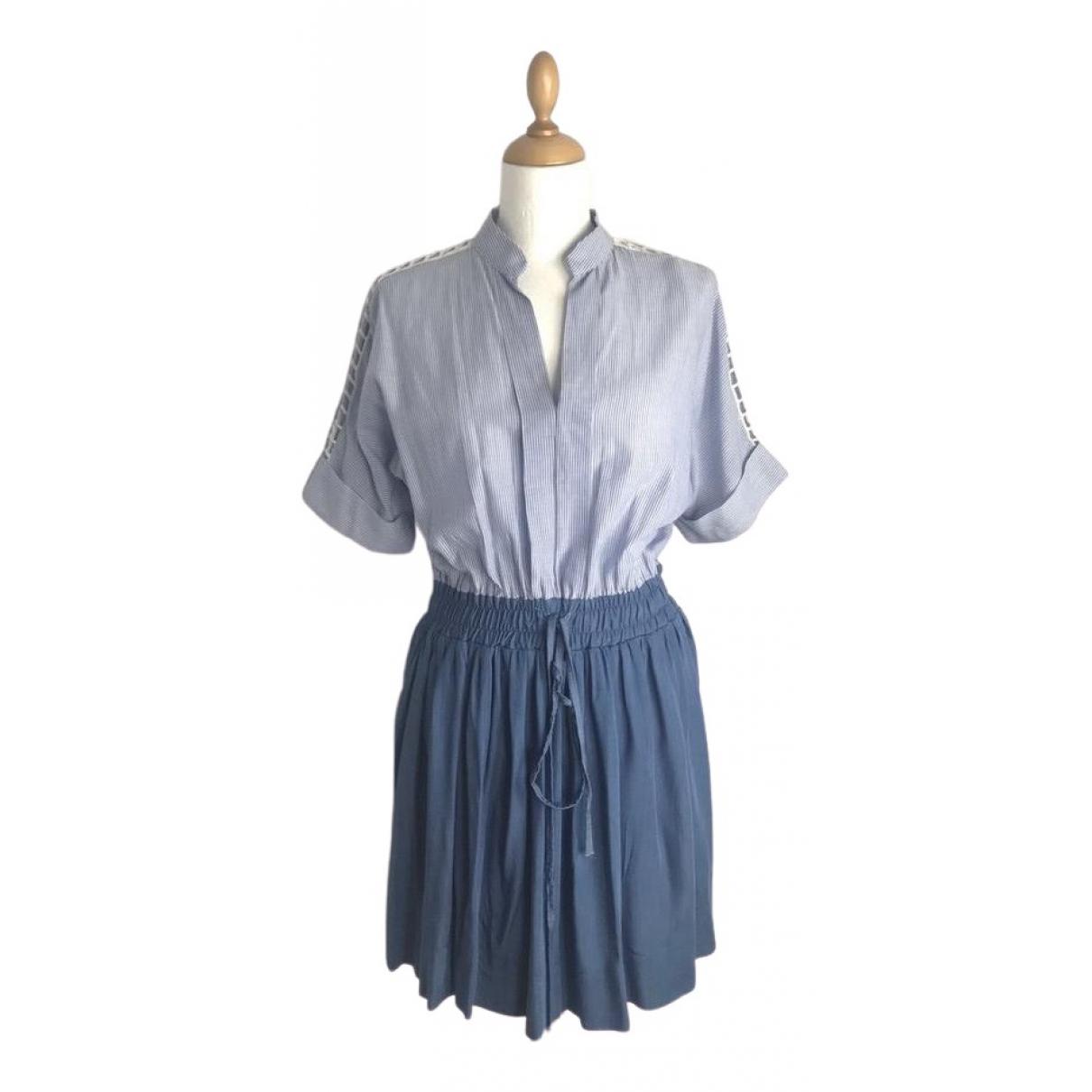 Scarlett Roos - Robe   pour femme en coton - bleu