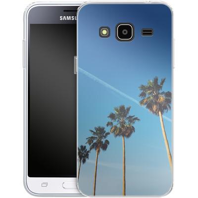 Samsung Galaxy J3 (2016) Silikon Handyhuelle - Palm Tree Paradise von Omid Scheybani