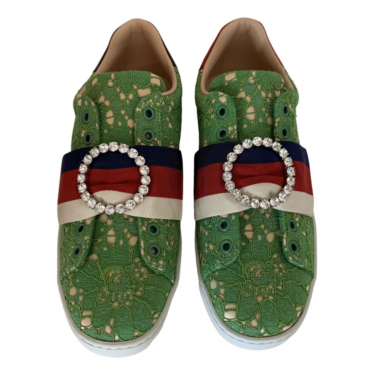 Gucci - Baskets Ace pour femme en toile - vert