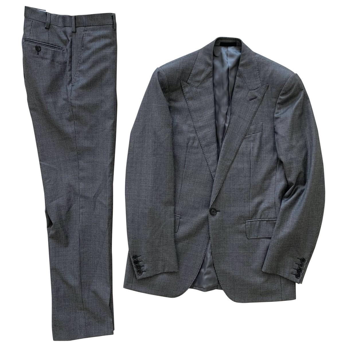 Lanvin \N Grey Cotton Suits for Men 46 IT