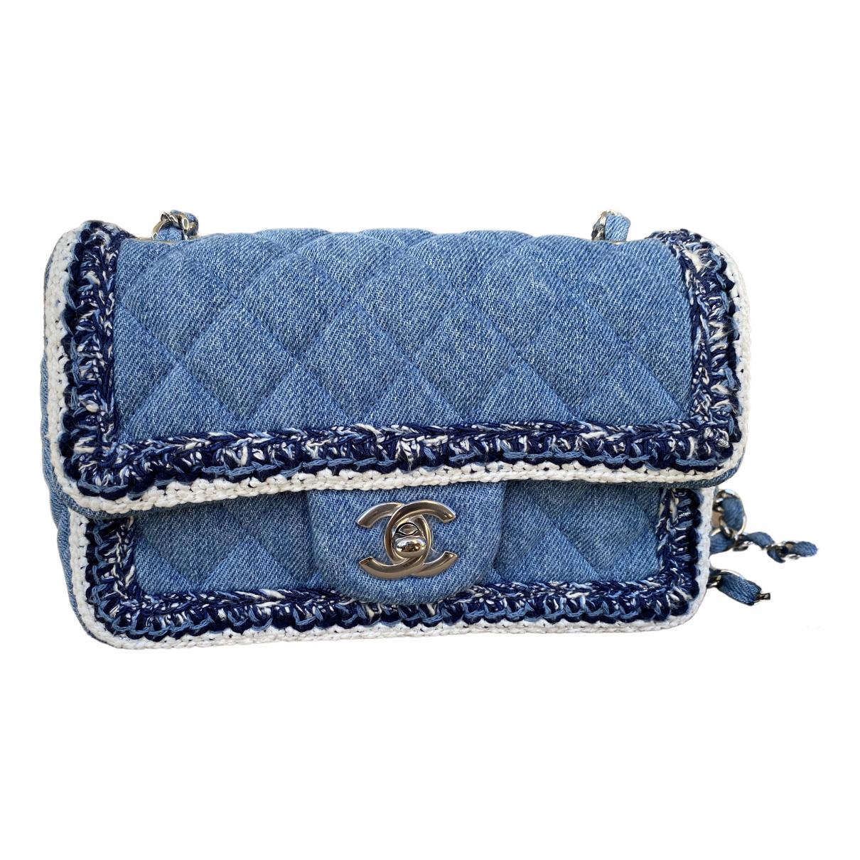 Chanel Timeless/Classique Blue Denim - Jeans handbag for Women \N