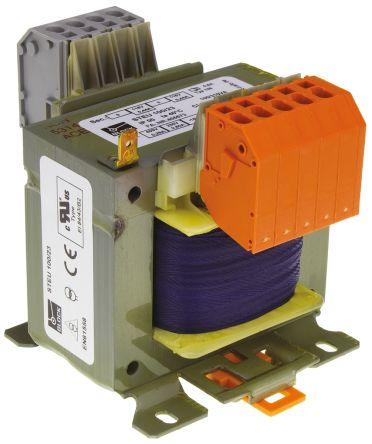 Block 100VA Isolating Transformer, 215V ac, 230V ac, 245V ac, 385V ac, 400V ac, 415V ac Primary 2 x, 115V ac Secondary
