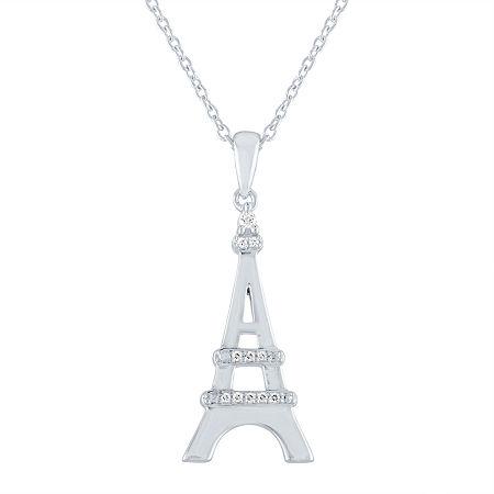 Explorer Womens Diamond Accent Genuine Diamond Sterling Silver Pendant Necklace, One Size , No Color Family
