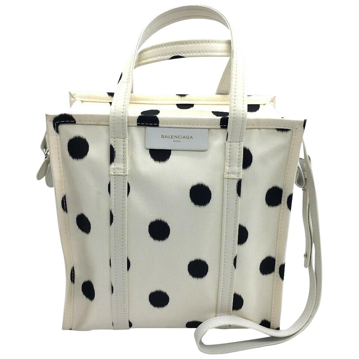 Balenciaga Bazar Bag Beige Cloth handbag for Women N