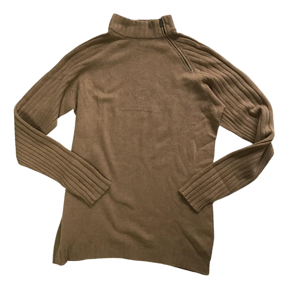 Versace Jeans \N Pullover.Westen.Sweatshirts  in  Beige Wolle