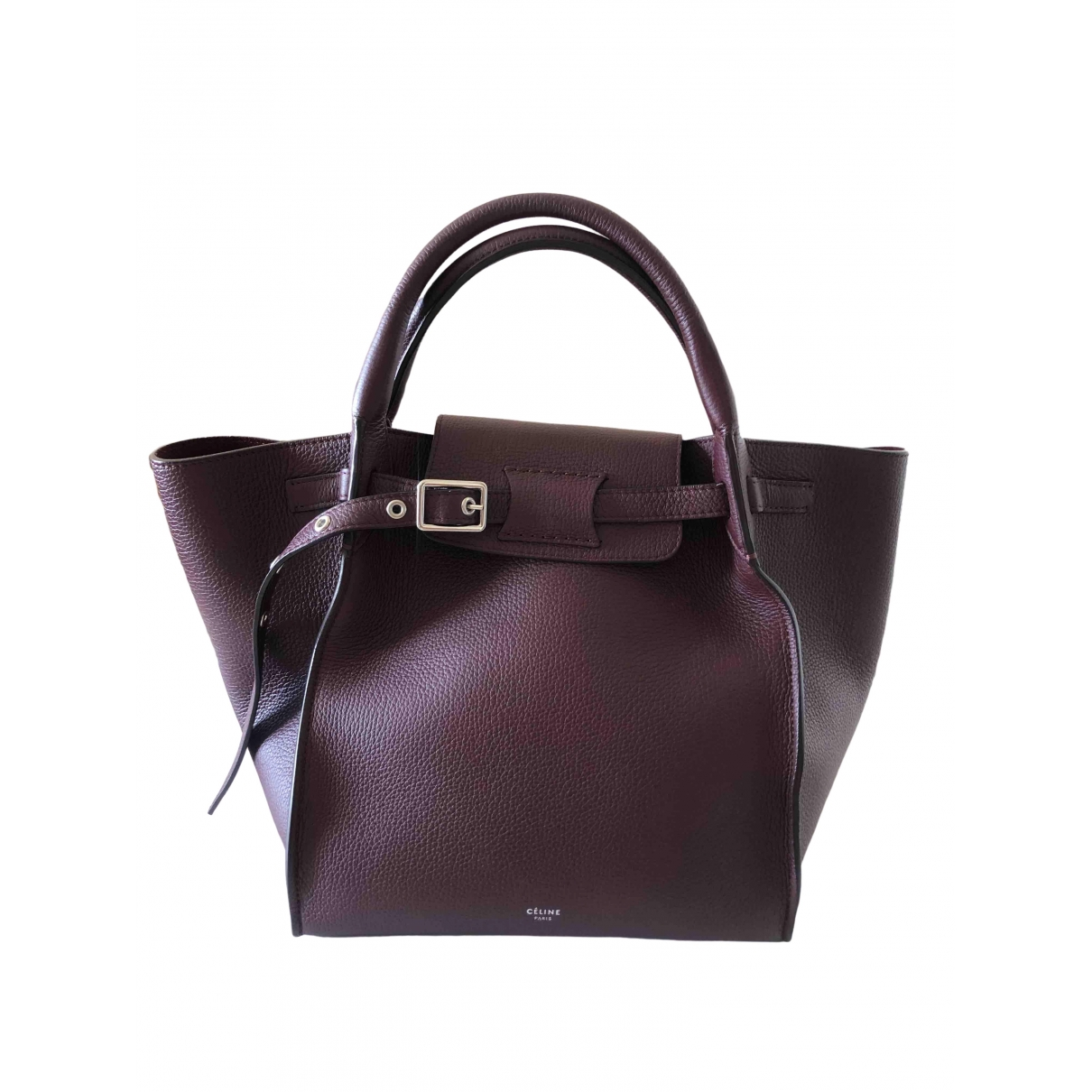 Celine Big Bag Burgundy Leather handbag for Women \N