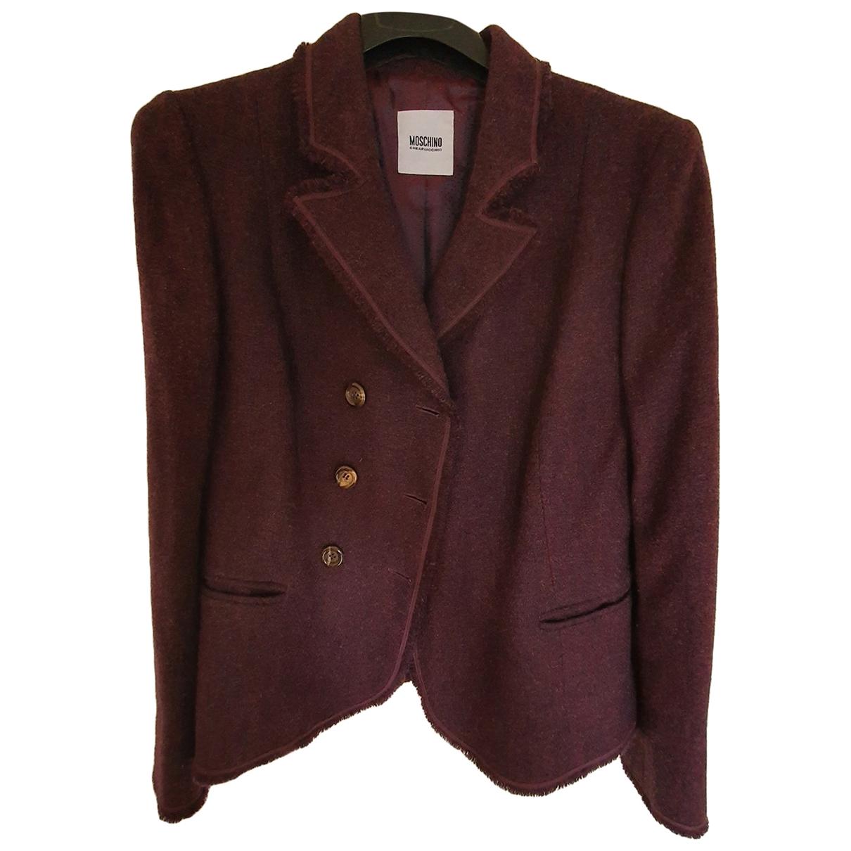 Moschino Cheap And Chic - Veste   pour femme en laine - violet