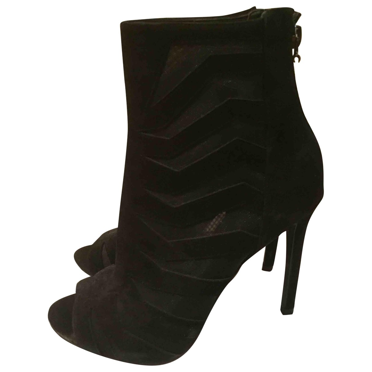Guess \N Black Leather Ankle boots for Women 37 EU