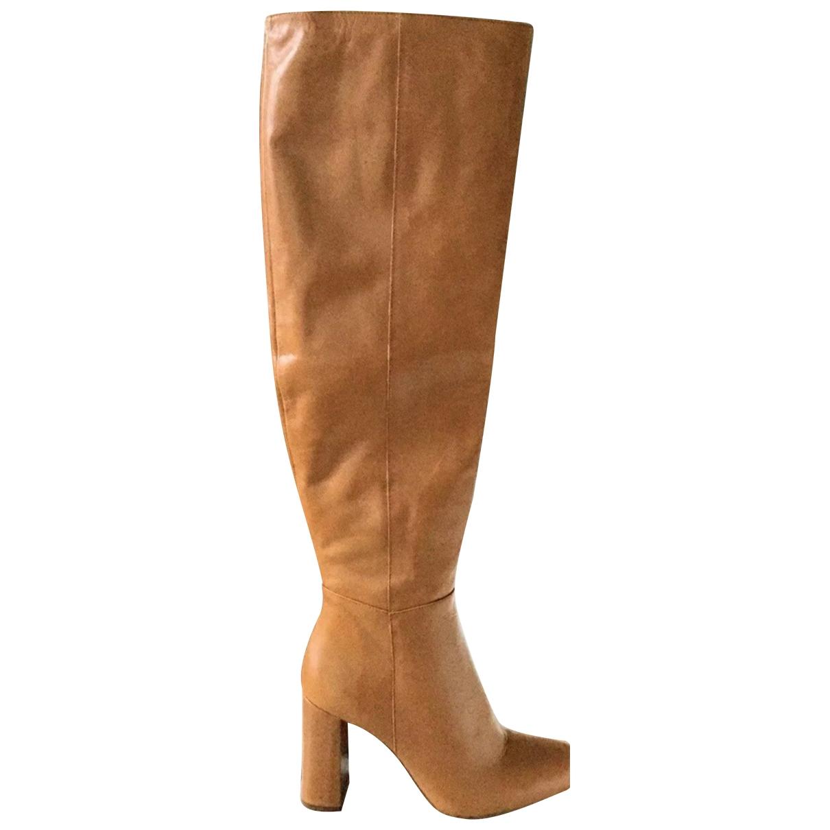Zara - Bottes   pour femme en cuir