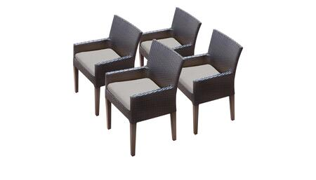 Belle BELLE-TKC097b-DC-2x-C-ASH 4 Dining Chairs With Arms - Wheat and Ash