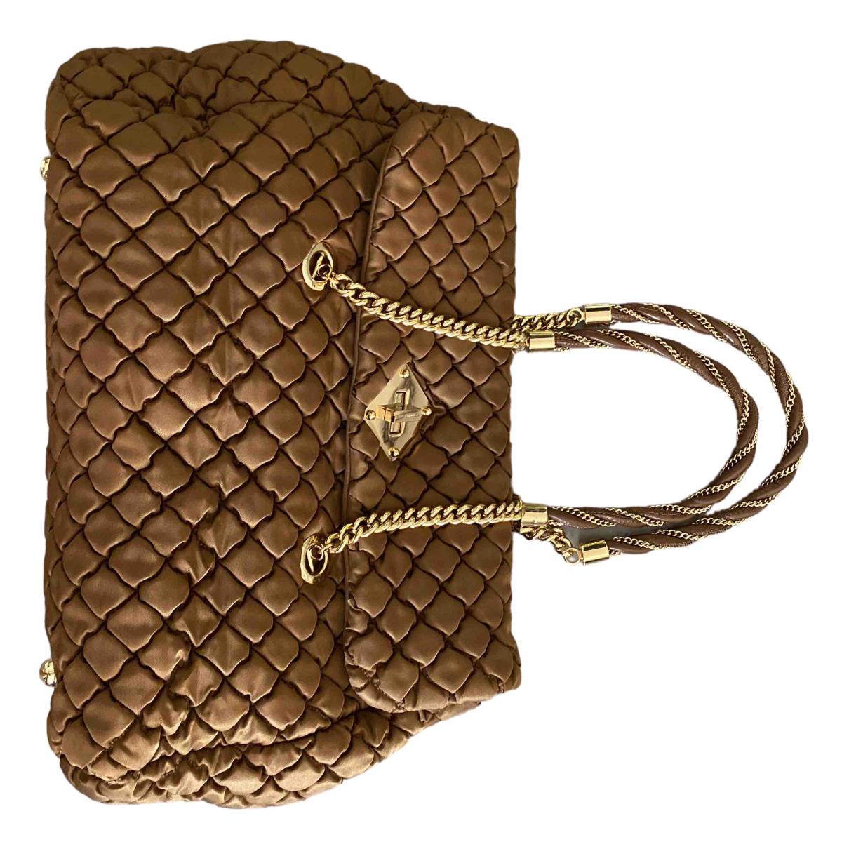 Moschino \N Handtasche in  Braun Leinen