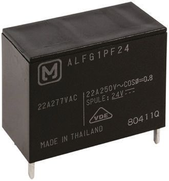 Panasonic , 12V dc Coil Non-Latching Relay SPNO, 16A Switching Current PCB Mount