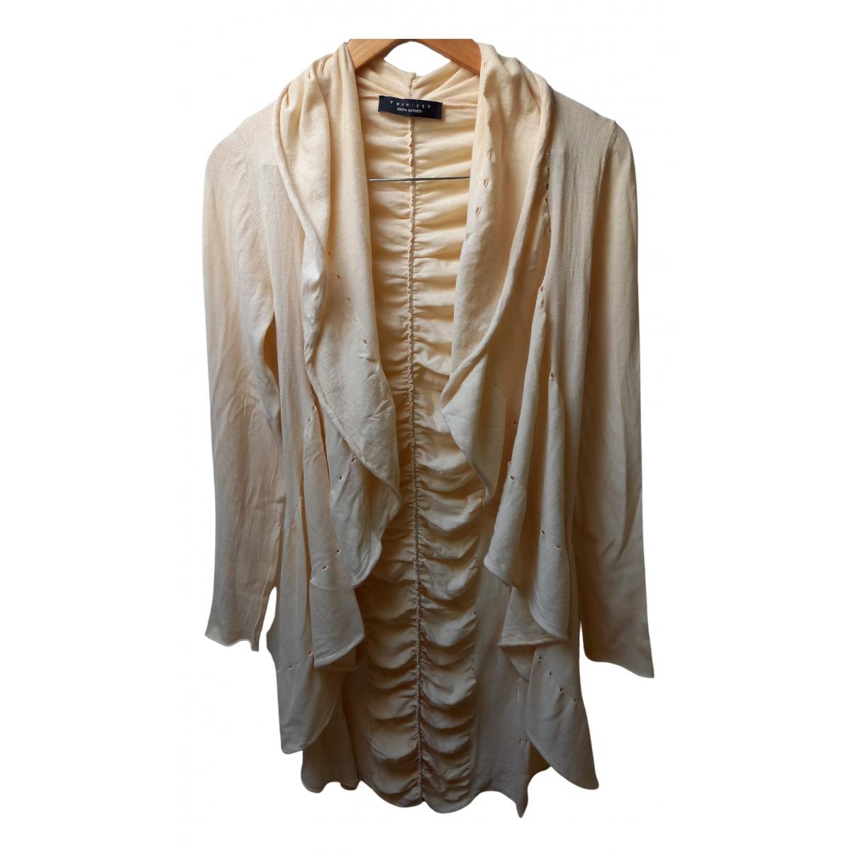 Twin Set - Top   pour femme en coton - beige