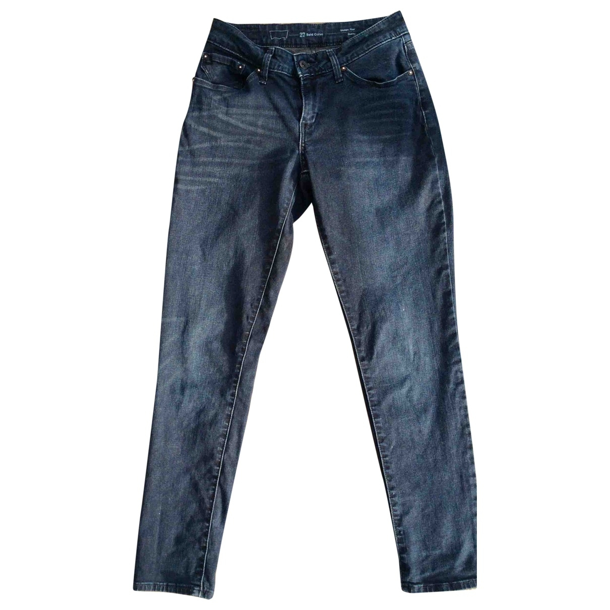 Levi's \N Navy Cotton - elasthane Jeans for Women 27 US