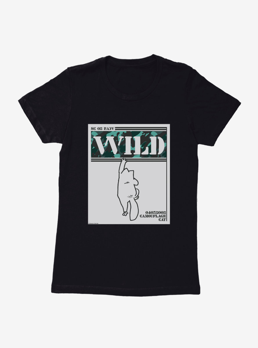 Simon's Cat Wild Camouflage Cat Womens T-Shirt