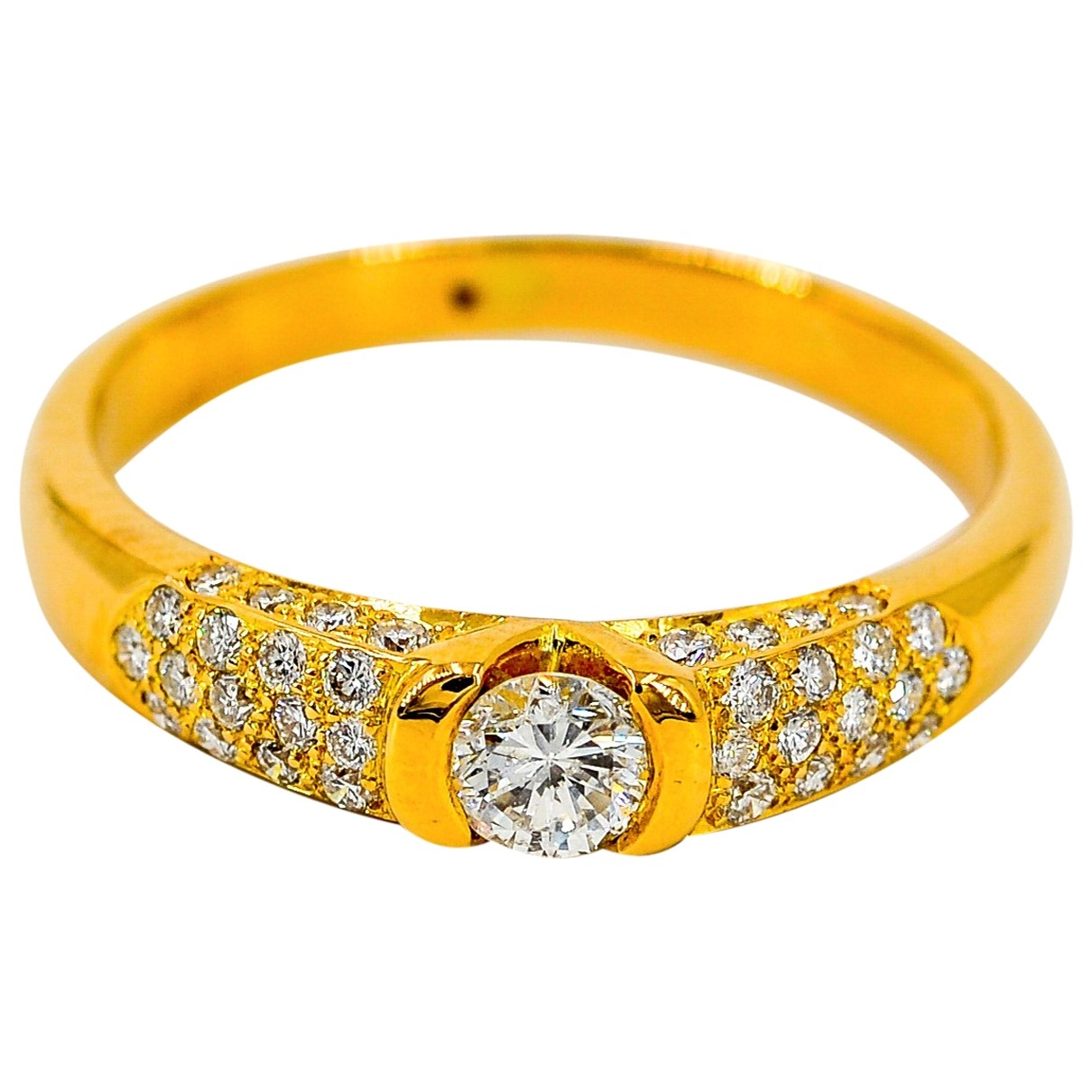 Non Signé / Unsigned \N Gold Yellow gold ring for Women 61 MM
