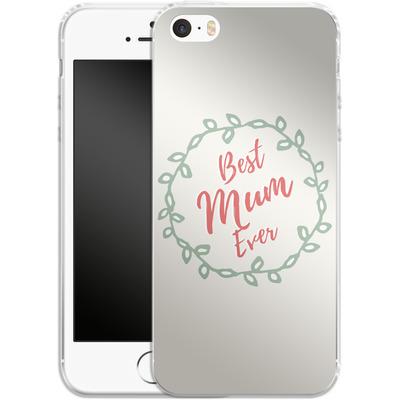 Apple iPhone 5 Silikon Handyhuelle - Best Mum Ever von caseable Designs
