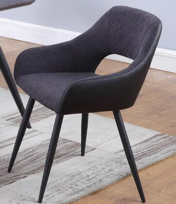 HENRIET-SC-GRY Contemporary Open-Back Side Chair in Matte