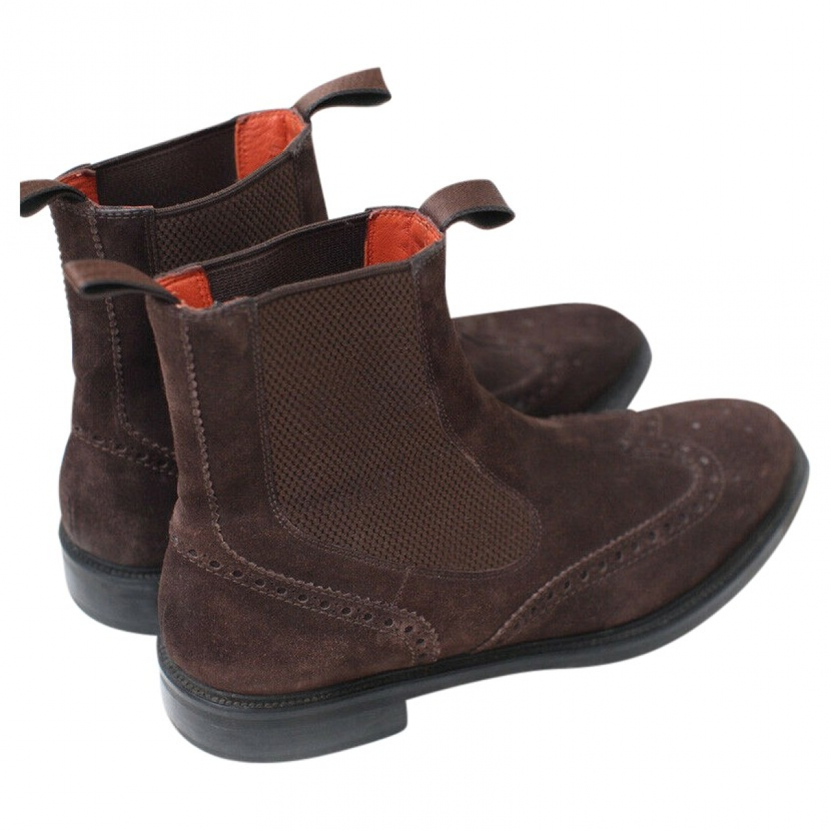 Santoni \N Leather Ankle boots for Women 38 EU
