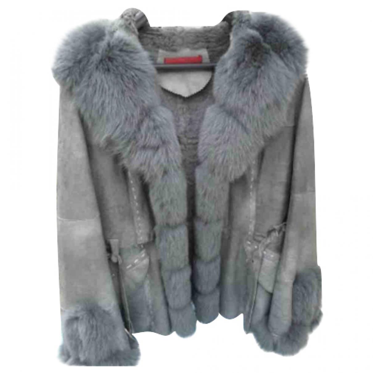 Giorgio & Mario - Manteau   pour femme en renard - gris