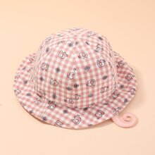 Sombrero cubo de niñitas de cuadros