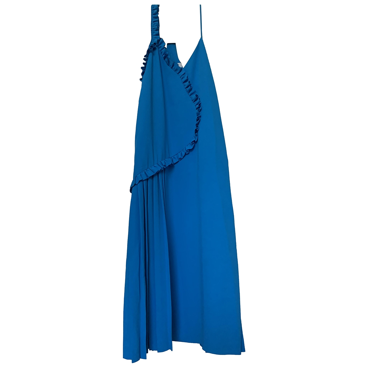Cédric Charlier \N Blue Cotton - elasthane dress for Women 38 IT