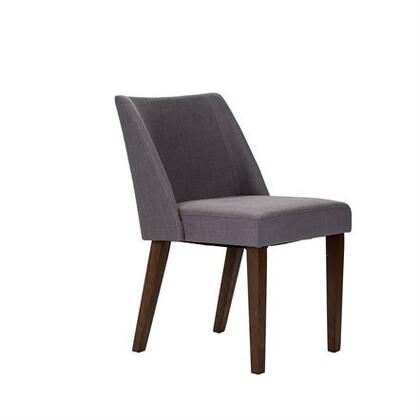 Space Savers Collection 198-C9001S-GY Nido Chair with Scotchgard Fabric Protection  Fully Upholstered Chairs and Soft Contemporary Design in Satin